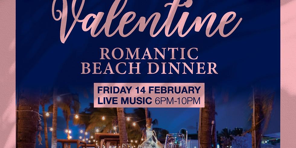 Valentine beach dinner