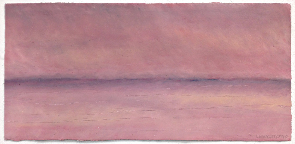 """Looking North # 3, 2019. 10.5"""" x 22"""", Oil stick on paper."""