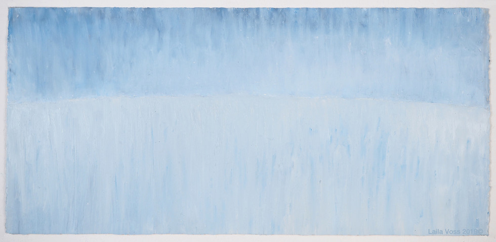 """Looking North # 9, 2019. 10.5"""" x 22"""", Oil stick on paper."""
