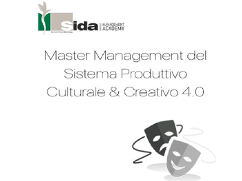 Progettazione culturale: Master Management del Sistema Produttivo