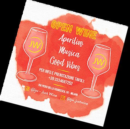 Creazione grafica flyer Just Wine