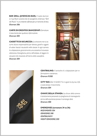 Grafica e impaginazione Hotel de la Poste