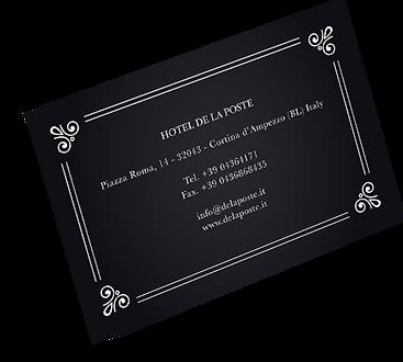 Biglietto da visita Hotel de la Poste Cortina d'Ampezzo