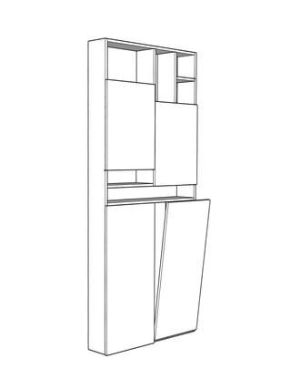 Mobile salvaspazio - AB Interior render