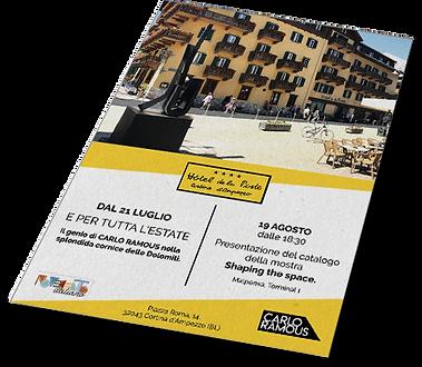 Grafica e impaginazione flyer Hotel de la Poste