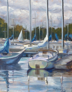 Sailboats at Dock