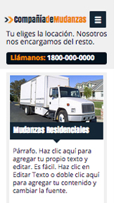Autos y Transportes website templates – Compañía de mudanzas