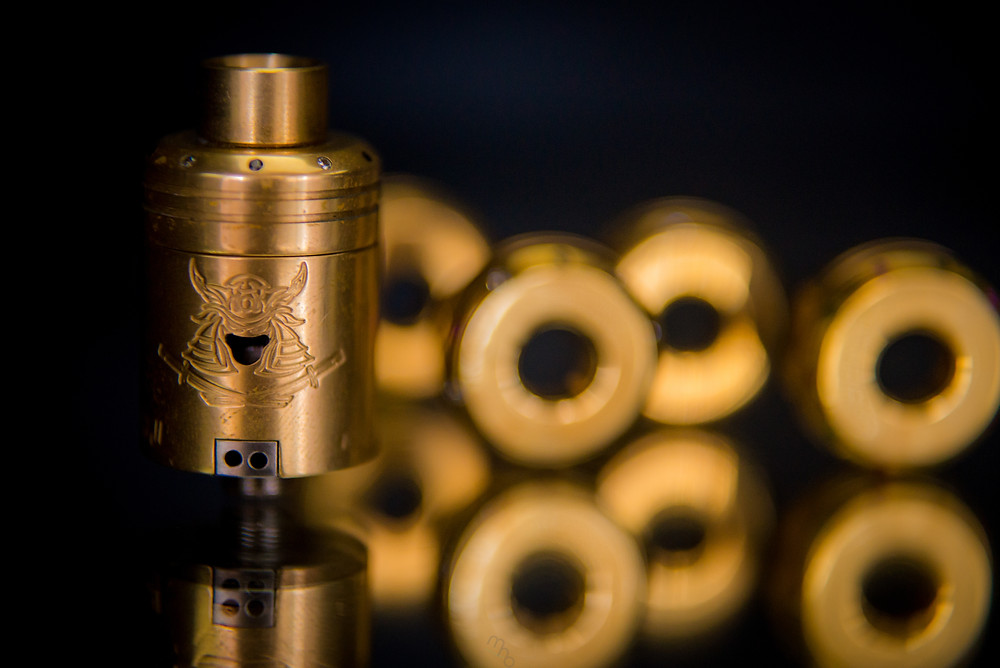 Samurai Competition V2 with Brass Drip Tip and Limited Edition Brass Top Part