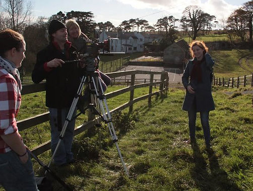 Andrew Thomson filming drama