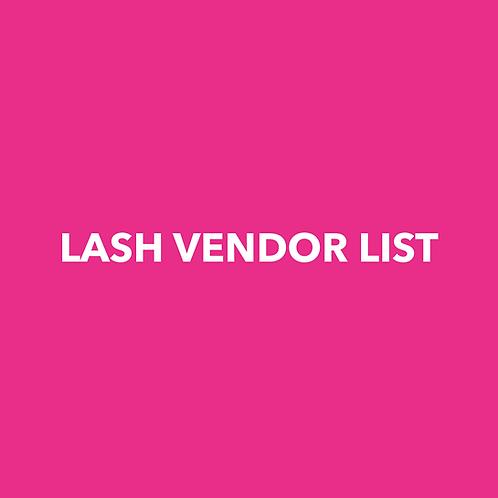 LASH VENDOR LIST
