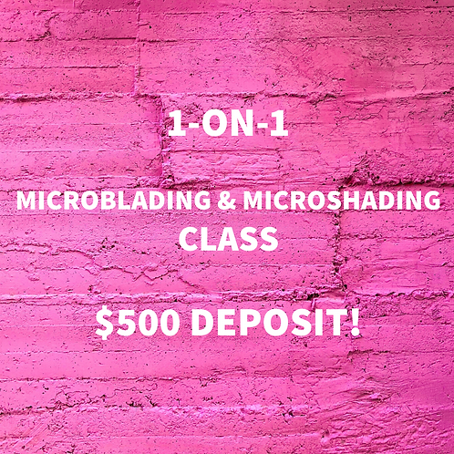1 ON 1 MICROBLADING & MICROSHADING CLASS ($500 DEPOSIT)