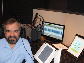 Joe Luciani Recording New Audiobook in Our Studio