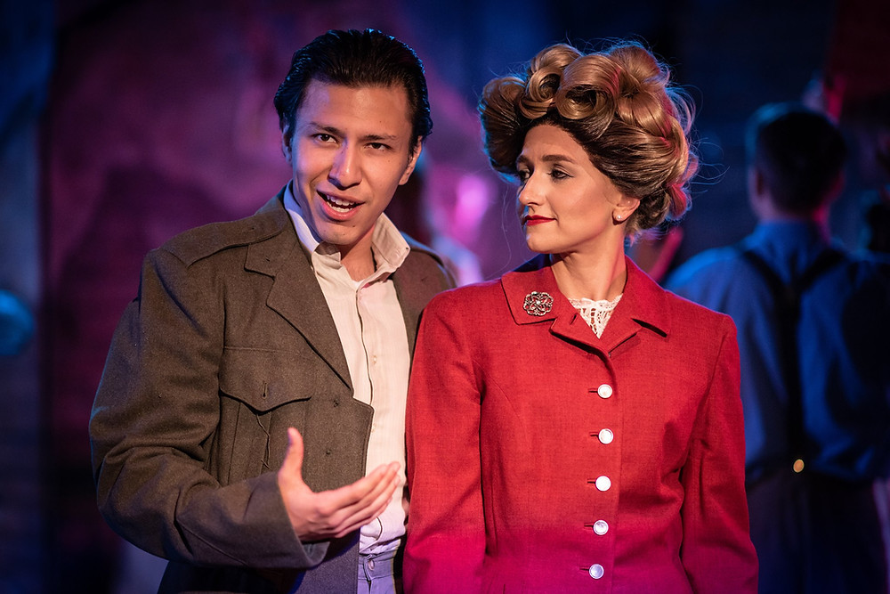 Juan (Danny LeMache) and Eva Peron (Jacquie Jo Billings)