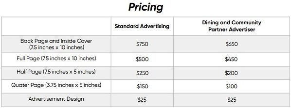 SCRT Ad program pricing