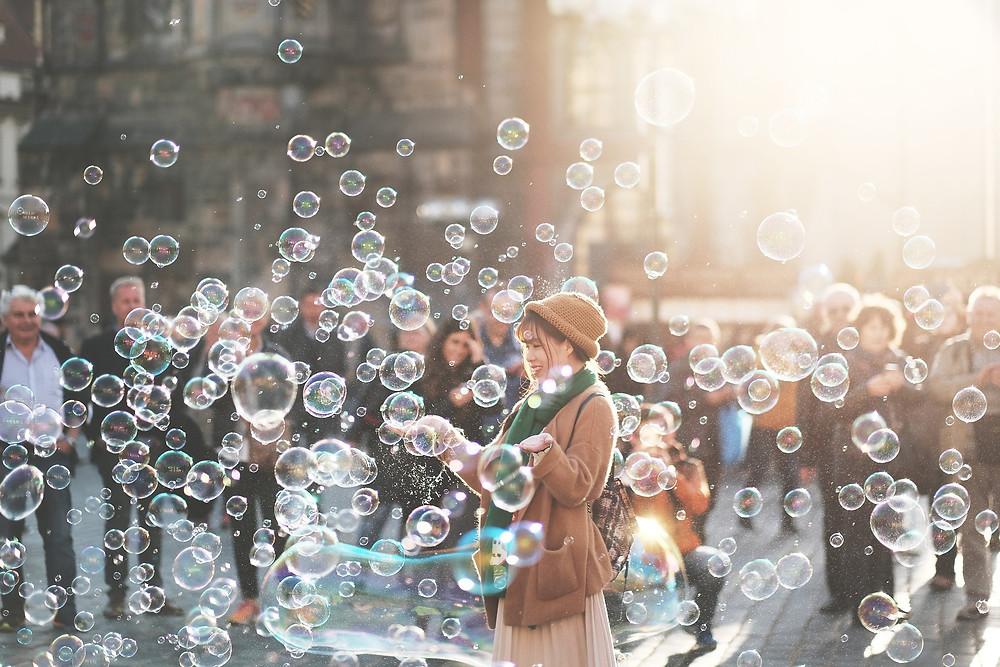 Seifenblasen-Welt