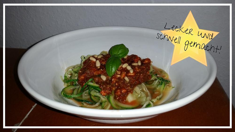 Zucchinispaghetti Bolognese