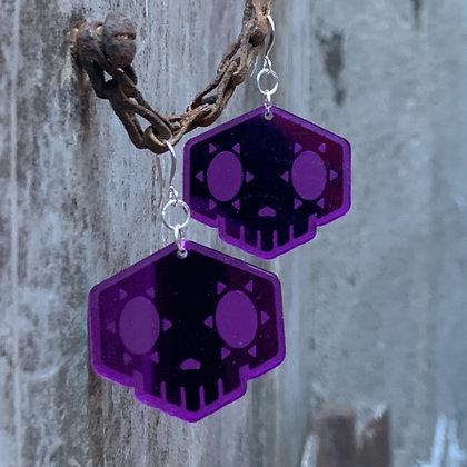 Purple Overwatch Sombra Earrings