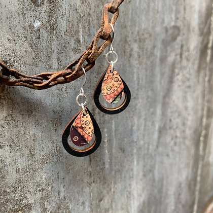 Paisley & Raven Teardrop Earrings