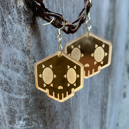 Gold Overwatch Sombra Earrings