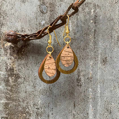 Gold & Moss Teardrop Earrings