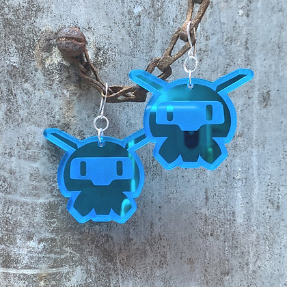 Blue Overwatch Mei's Snowball Earrings
