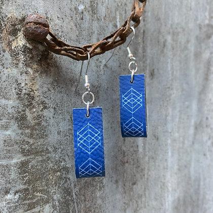 Royal Diamond Print Hoop Earrings