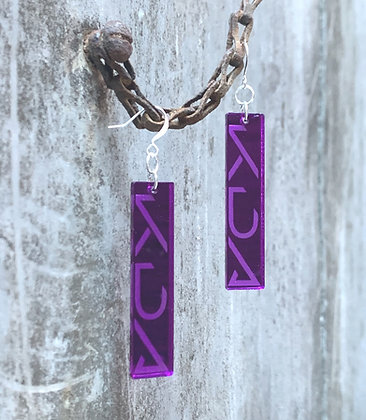 Purple Mirror K/DA POP/STARS Earrings