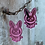 Thumbnail: Pink Overwatch D.Va Earrings