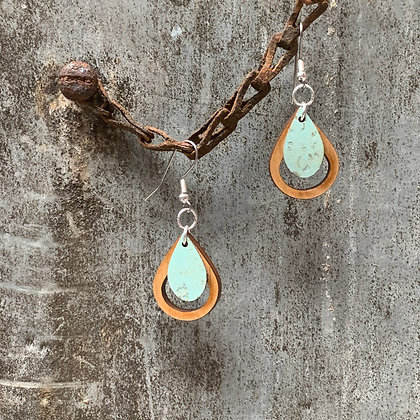 Mint & Cherry Teardrop Earrings