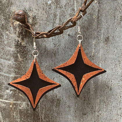 Cinnamon & Raven Starburst Earrings