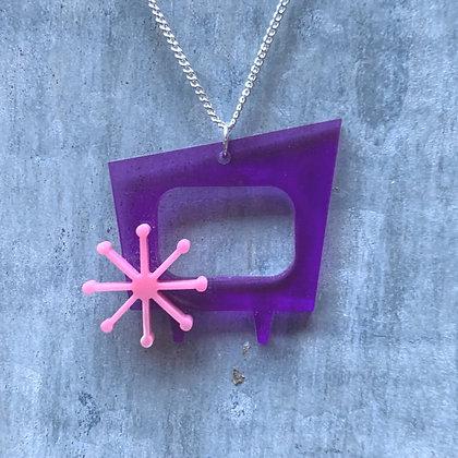 Purple TV Pendant