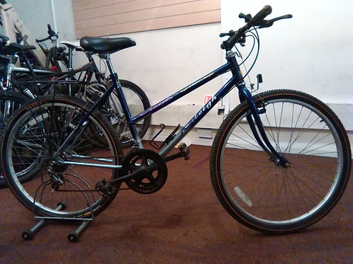 RALEIGH CASSIS 26 INCH WHEELS PURPLE/GREY 10 SPEED GOOD CONDITION