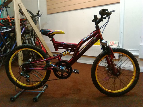 SABRE ANNIHILATION 20 INCH WHEEL FULL SUS DUAL DISC 6 SPEED VERY GOOD CONDITION