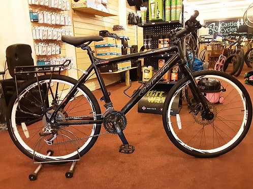 CARRERA SUBWAY TWO 26 INCH WHEEL BLACK 24 SPEED DUAL DISC GOOD CONDITION