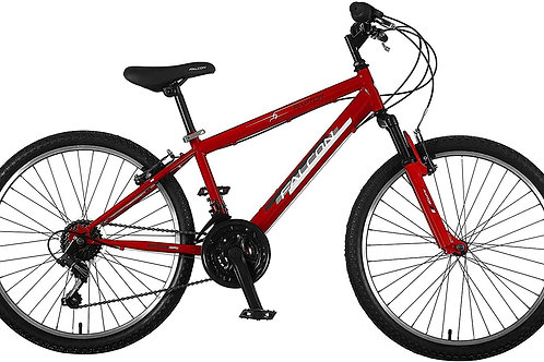 FALCON RAPTOR 24 INCH WHEEL 14 INCH FRAME FRONT SUS 18 SPEED RED