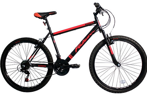 FALCON MAVERICK 26 INCH WHEEL 19 INCH FRAME 18 SPEED FRONT SUS BLACK/RED