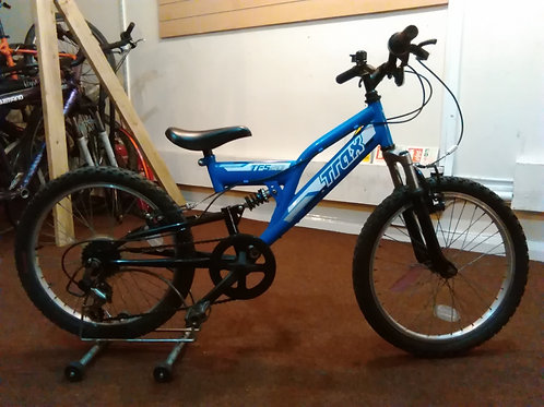 TRAX TFS20 20 INCH WHEEL FULL SUS 6 SPEED BLUE/BLACK GOOD CONDITION