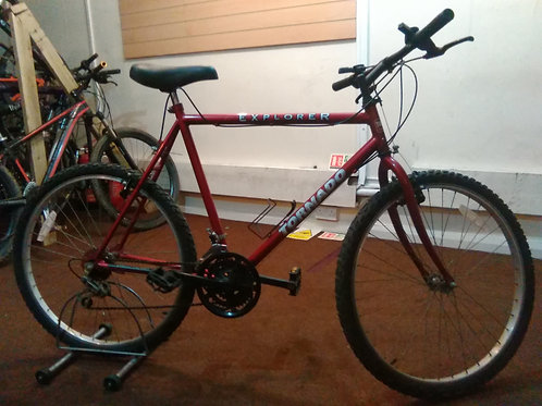 TORNADO EXPLORER 26 INCH WHEELS RED 15 SPEED GOOD CONDITION