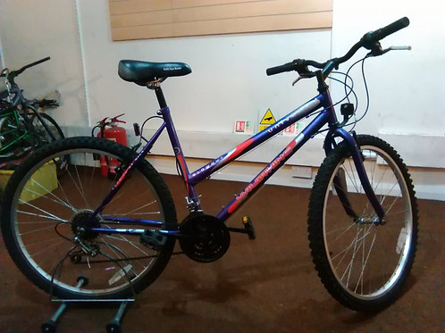 UNIVERSAL WILDTHING 26 INCH WHEEL 18 SPEED PURPLE GOOD CONDITION