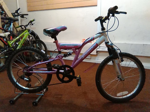 TERRAIN VERSUVIUS 20 INCH WHEEL WHITE/PINK 6 SPEED FULL SUS GOOD CONDITION
