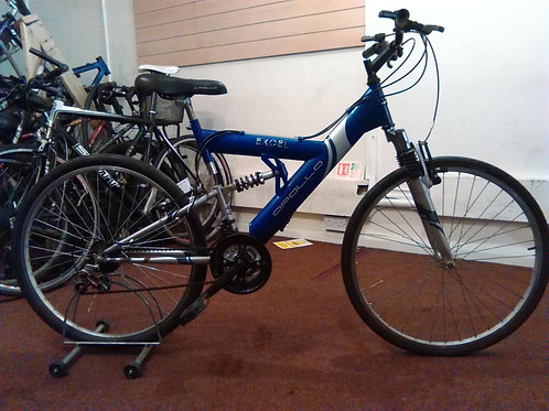 APOLLO EXCEL 26 INCH WHEEL 18 SPEED BLUE/SILVER FULL SUS GOOD CONDITION