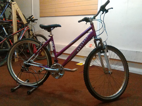 HERCULES GALA 26 INCH WHEEL PURPLE/WHITE 18 SPEED FRONT SUS GOOD CONDITION