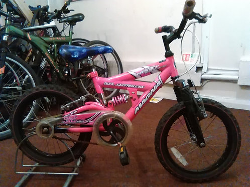 MAGNA MISTY 16 INCH WHEEL PINK/BLACK FULL SUS GOOD CONDITION