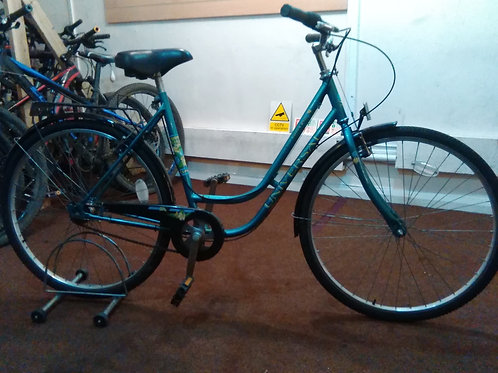 UNIVERSAL TOWN BIKE LA RIVIERA 700C WHEELS 3 SPEED TURQUOISE GOOD CONDITION