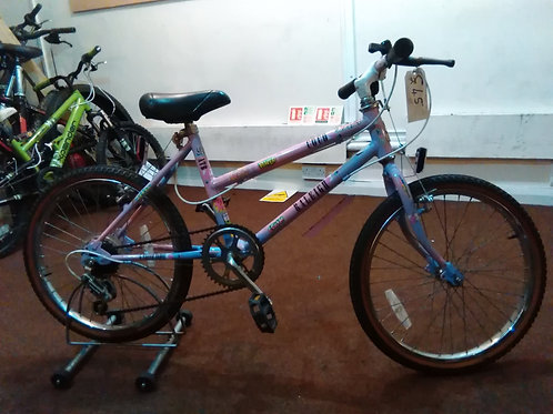 RALEIGH COCO 20 INCH WHEELS PINK/BLUE 5 SPEED GOOD CONDITION