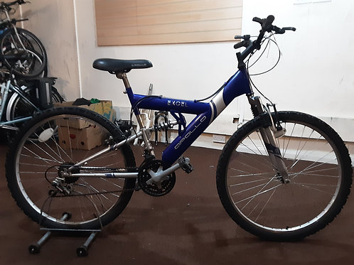 APOLLO EXCEL 26 INCH WHEEL BLUE/SILVER 18 SPEED FULL SUS GOOD CONDITION