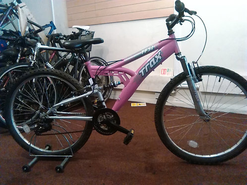TRAX TFS.1 PINK/SILVER 18 SPEED 26 INCH WHEELS FULL SUS GOOD CONDITION