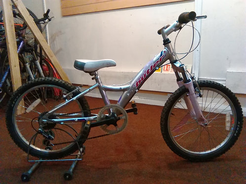 CLAUD BUTLER 20 INCH WHEELS FRONT SUS ALLOY 6 SPEED SILVER/PINK GOOD CONDITION