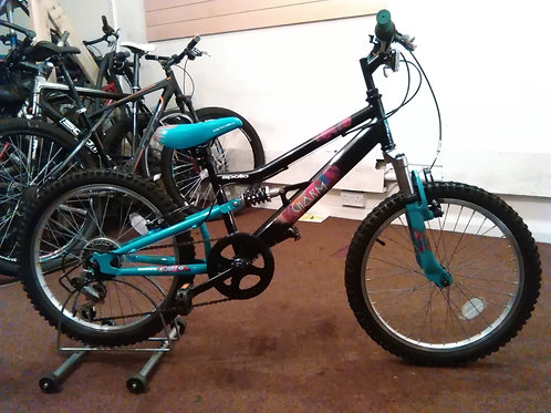 APOLLO CHARM 20 INCH WHEELS FULL SUS BLACK/TURQUOISE 6 SPEED VERY GOOD CONDITION