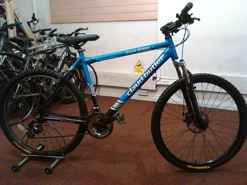 CLAUD BUTLER TRAIL RIDGE 26 INCH WHEEL BLUE/BLACK FRONT SUS ALLOY 21 SPEED